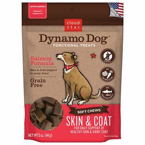 Cloud Star Dynamo Dog Salmon Skin and Coat 5 ounce Grain Free Soft Treats