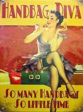 Handbag Diva, 50's Pinup Girl, Lipstick Vintage Retro, Funny Gift, Fridge Magnet
