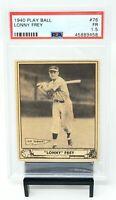 1940 Play Ball Cincinnati Reds LONNY FREY Vintage Baseball Card PSA 1.5 FAIR