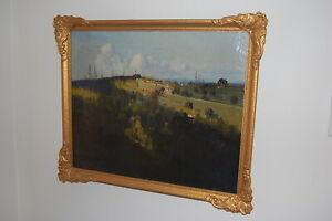 Original 1939 vintage framed oil painting by listed Aust. artist Alexander Kerr.