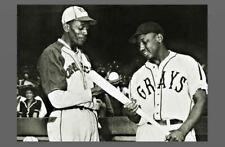 1942 Satchel Paige Vs Josh Gibson PHOTO Kansas City Monarchs, Negro League Stars