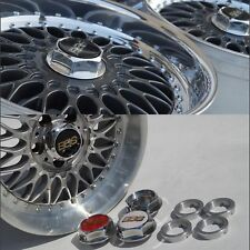 BBS RC 090 062 040 Adaptor + RS Center Caps Hex Nuts 17 18 Inch Bmw Style 5