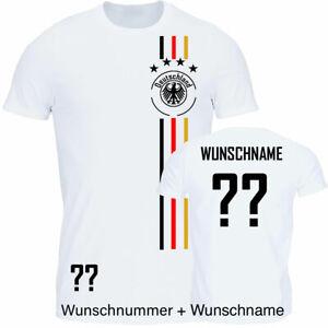 T-Shirt Fußball Herren Trikot WM/EM Deutschland Trikot mit Streifen