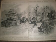 WWII British 2nd army fighting in a village near Hanover Germany 1945 prints