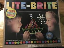 Lite Brite flat screen 214 pieces Hasbro toy 206 colorful pegs NEW