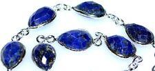 925 Sterling SILVER Facet Cut Lapis Bracelet Genuine Natural Gemstone Jewellery