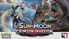 Pokemon SUN & MOON CRIMSON INVASION Booster 6 Cajas Caja Precintada