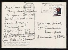 Sara Hoskinson Frommer Signed Post Card Autographed Mystery Author