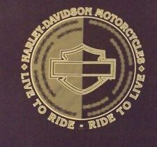 VINTAGE 2XL BLACK LIVE TO RIDE FAST CHAINS HARLEY- DAVIDSON MOTORCYCLES  T-SHIRT