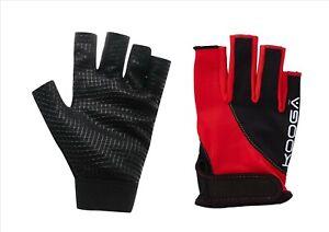 New Kooga Red/Black Rugby Grip Gloves Stick Mits/Mitts 6-13+yrs Mini/Juniors
