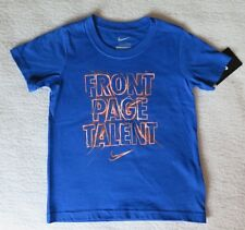 """Nike Little Boys' """"Front Page Talent"""" Blue T-Shirt - Size 4 - NWT - MSRP$17.00"""
