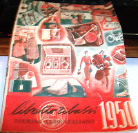 Publicidad Folleto Plegable Rebajas 1950 Touring Club Italiano