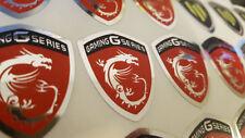 TWO (2) x MSI Gaming Series Sticker - 40 mm x 32 mm Chrome Logo Case Badge