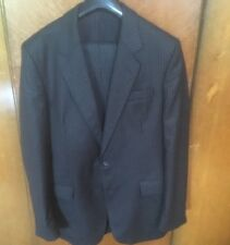 Smart, Vintage, Single-Breasted Gent's Wool, Pinstripe Suit. 40 Inch Chest