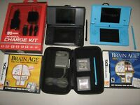 Nintendo DSi DS Lite Bundle Lot + Games, Case, Extra Chargers, Extra Stylus