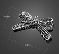 5* Lace ribbon bow knot charm Tibetan Jewellery Pendants Beads bracelet necklace
