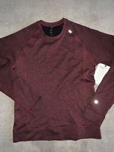 Lululemon Engineered Warmth L/S Running Shirt - Men's Small ~ $148.00 Red Wool
