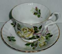 Royal Albert Bone China Cup & Saucer Set White Roses