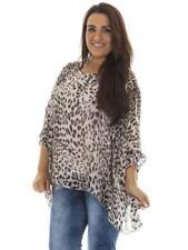 Leopard Print 100% Silk Tops for Women