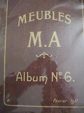 catalogue publicitaire meubles de style art nouveau  michel allard 1911