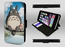 My Neighbor Totoro Studio Ghibli Anime Art Wallet Leather Phone Case Flip Cover