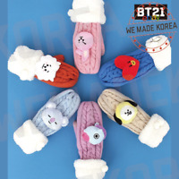 BT21 Character Knitted Winter Mittens 7types Official K-POP Authentic Goods