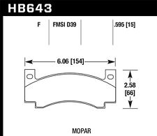 Disc Brake Pad Set-Base Front Hawk Perf HB643F.595