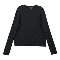 Banana Republic Mens Medium Merino Wool Crewneck Sweater Gray Knit Ribbed