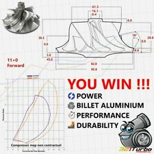 BILLET Compressor Wheel Turbo Garrett T04E (61.3/82) 11+0 Hybride MFS KTS 4E68
