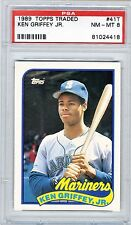 1989 Topps Traded Griffey RC PSA 8 NM-MT  HOF