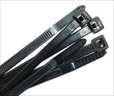 """14"""" BLACK NYLON CABLE ZIP TIES  QTY 500 - 50lb  USA Made zip or wire tie New"""