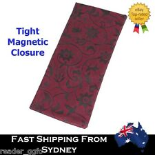 Good Quality Magnetic Closure Reading Glasses Pocket Carry Bag Case Pouch Red