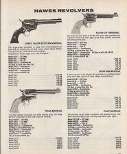 1978 Hawes Marshall Revolver Ad Sauer Wesern, Texas, Silver City, Montana Chief