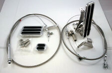 Billet Floor Mount Throttle / Gas Pedal Kit W/ Braided Cable & TH350 Kick Down