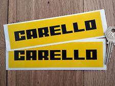 CARELLO Old Style Racing Car STICKERS 160mm Pair Ferrari Porsche Classic Race
