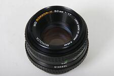 Minolta MD Rokkor-X 50mm, f/1.7 Lens