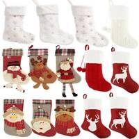 Papá Noel Navidad Calcetines Lindo Adornos Árbol de Navidad Decoración Colgante