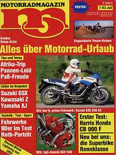 mo 7/83 1983 Amazonas Egli Suzuki 1100 Turbo Harris Honda Magnum 3 TLR 200 XJ550