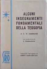 Alcuni insegnamenti fondamentali della Teosofia Leadbeater 1953