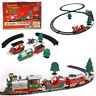 Musical Christmas Train Track Xmas Tree Decor with Light Kids Children Toy Gift