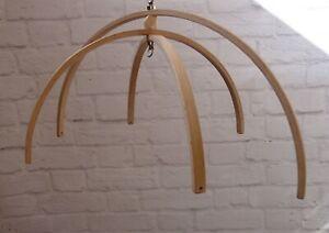 Arc Wooden mobile hanger nursery frame decor mobile crib base DIY Natural Wood