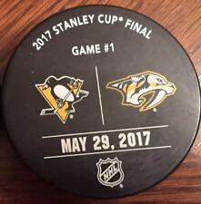 Pittsburgh Penguins vs Predators Game Used Stanley Cup Final Game 1 Puck Warm Up