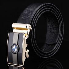 BMW Designer Black Belts Men High Quality Genuine Leather Belt Automatic Buckle