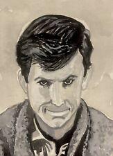 Psycho Bates Perkins ACEO ATC original art card miniature collectible Painting