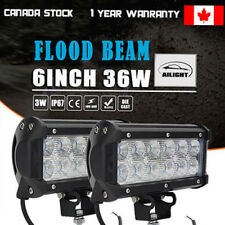 2PCS 72W 6 inch Flood LED Work Light Bar Offroad Driving Lamp ATV Car Truck etc.