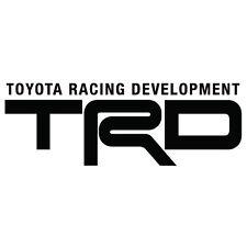 "2 ""TRD"" Decals Logo Sticker Vinyl Toyota Scion Sports Racing"