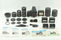 N MINT + 3Lens】 Mamiya 645 Pro Camera + 80mm 150mm 210mm Lens +other From Japan