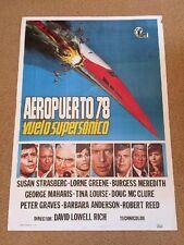 SST DEATH FLIGHT Vintage CONCORDE Movie Film Poster PETER GRAVES LORNE GREENE