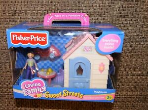 New Factory sealed Fisher Price Mattel Sweet Streets GIRLS CLUB PLAY HOUSE 74141