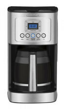 Programmable Coffeemaker Stainless Steel Cuisinart DCC- 3200 14-Cup glass